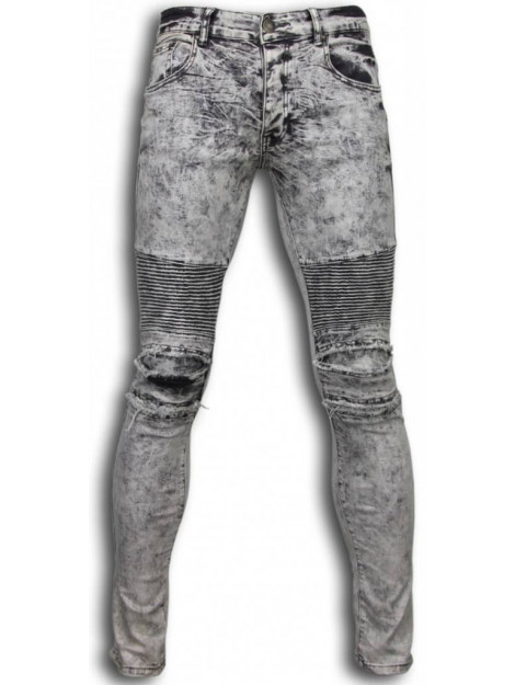 True Rise Ripped jeans slim fit biker jeans lined knee pads ZS665-12LG large