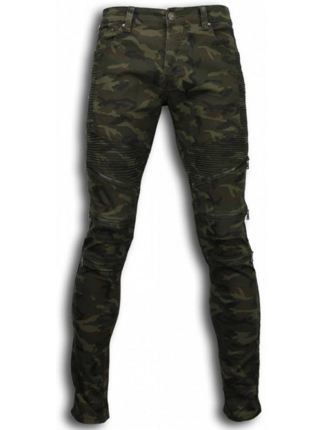 True Rise Ripped jeans slim fit biker jeans zipped knee ZS732-18G large