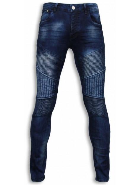 True Rise Jeans slim fit biker jeans all ripped biker U071-2B large