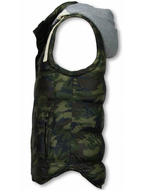 Yole Bodywarmer camouflage vest capuchon FM-2851 large
