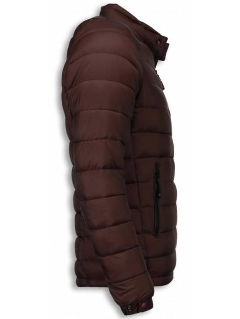 Enos Bordeaux rode winterjas korte jas PI-710B large