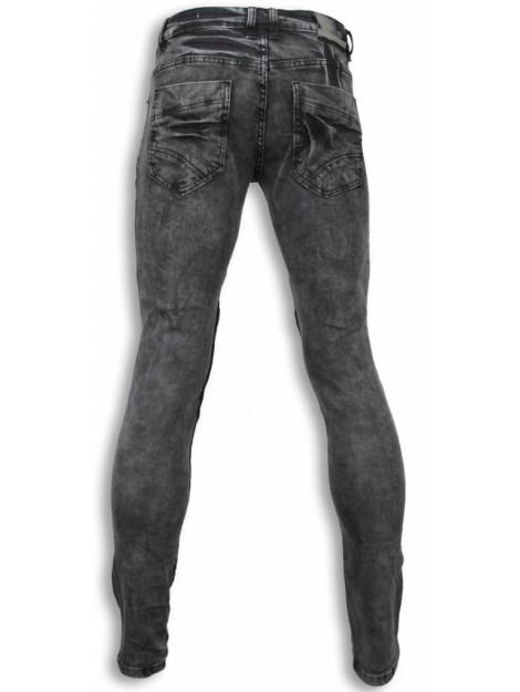 Justing Biker jeans slim fit denim ribbed knee ST-6556#VG large