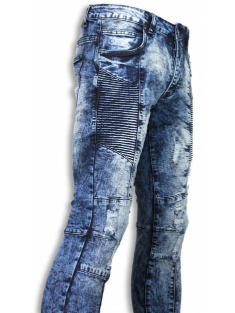 Justing Biker jeans slim fit denim urban look ribbel thigh ST-9076#VB large