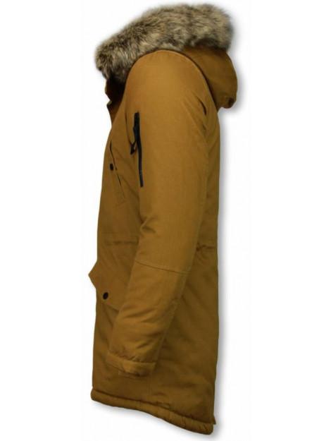 Enos Lange winterjas met bontkraag CA-7023GL | CA-7105GL large