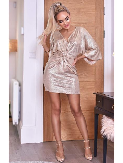 Catwalk Anika metallic twisted knot dress Anika-Champgne large
