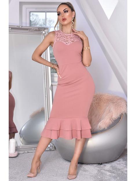 Catwalk Miranda lace fishtail dress Miranda-Mave large