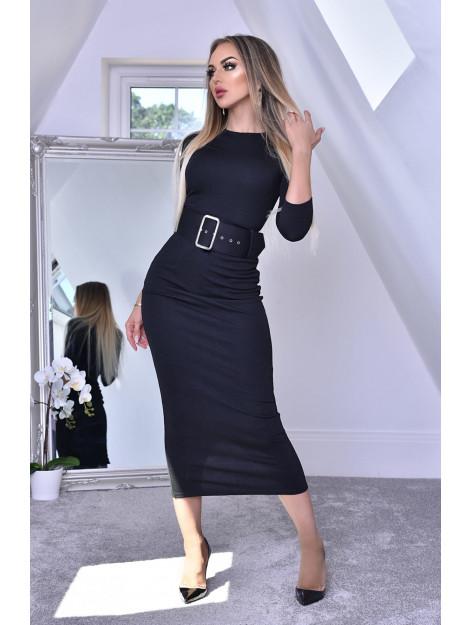 Catwalk Eliana black midaxi dress Eliana-Black large