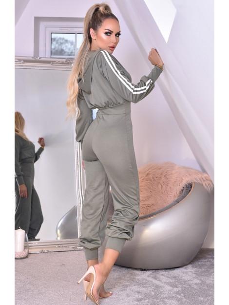 Catwalk Tanya hooded loungewear jumpsuit Tanya-Khki large