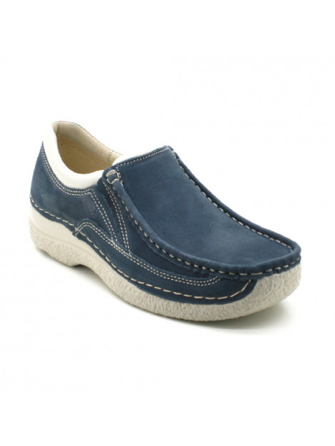 Wolky Instappers blauw 06206-Roll Sneaker large