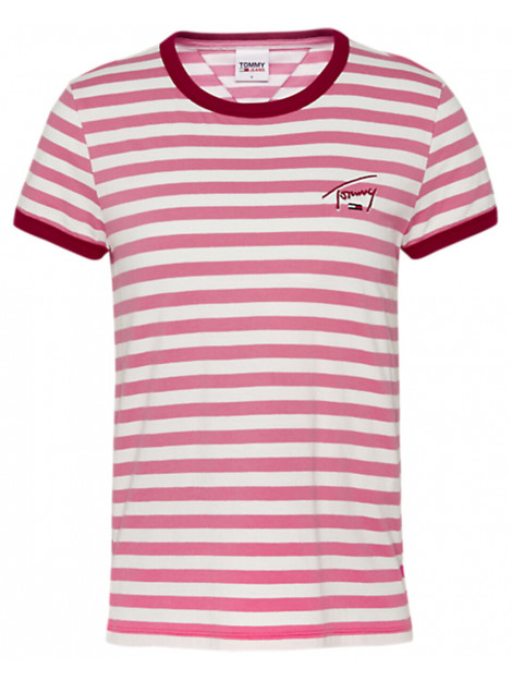 Tommy Hilfiger T-shirt logo stripe ringer Tommy Hilfiger T-shirt LOGO STRIPE RINGER large