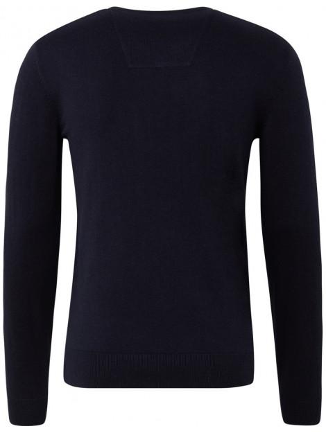 Zwarte trui v neck jersey regular fit Tom Tailor TT