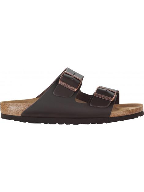 Birkenstock Arizona dark brown leather narrow 051103 large