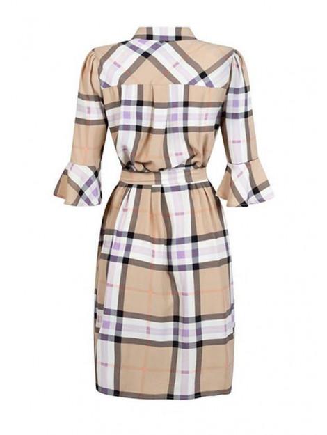 Tramontana Jurk long blouse check E01-98-502-12864 large