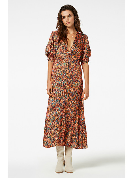 Freebird Kaaja leaf maxi dress short sleeve KAAJA LEAF Maxi dress short sleeve. large
