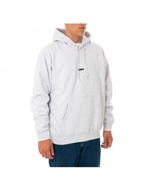 OBEY Felpa uomo bold mini box fit premium hooded 112842705.ash 139406 large