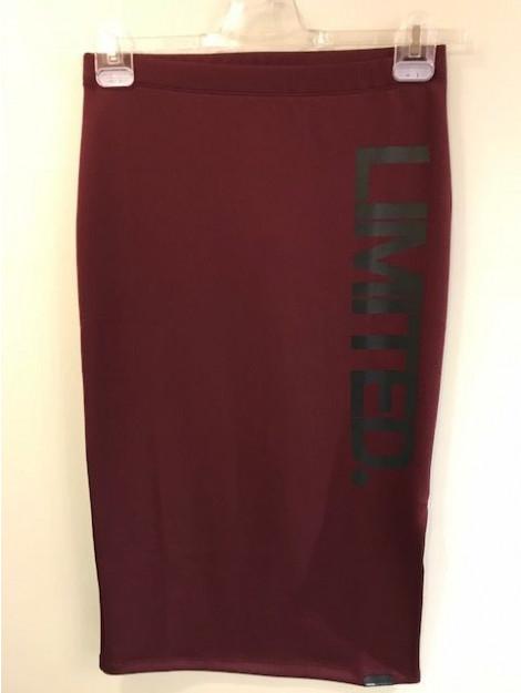 Penn & Ink W17f106ltd 311/90 ny skirt print wine black W17F106LTD 311/90 large