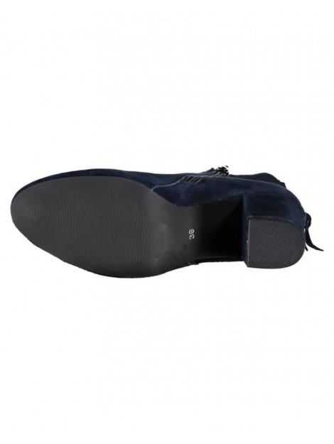 SPM Laars bendle ankle boot kid suede dk navy