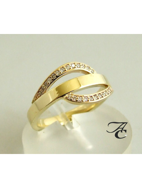 Atelier Christian 14 karaat ring met diamanten 7660P large