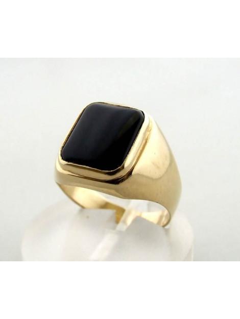 Christian 14 karaat gouden ring met onyx 231A9-6823OCC large