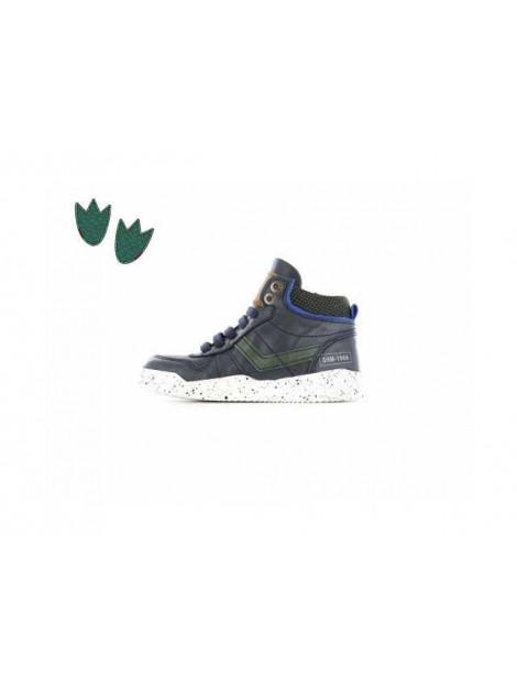 Shoesme Hoge sneaker met striping donker blauw EX8W066-A large