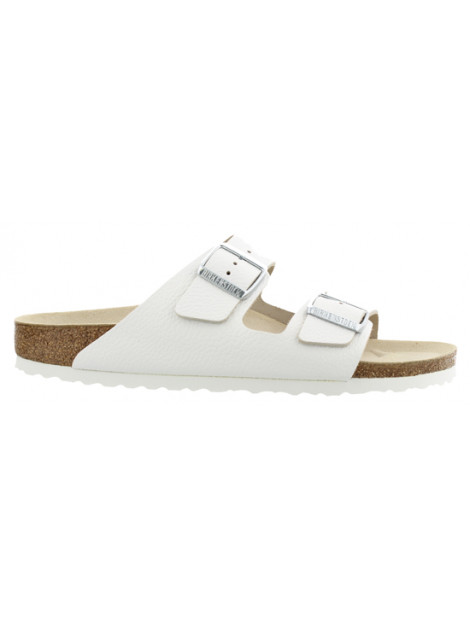 Birkenstock Arizona white leather narrow 051133 large