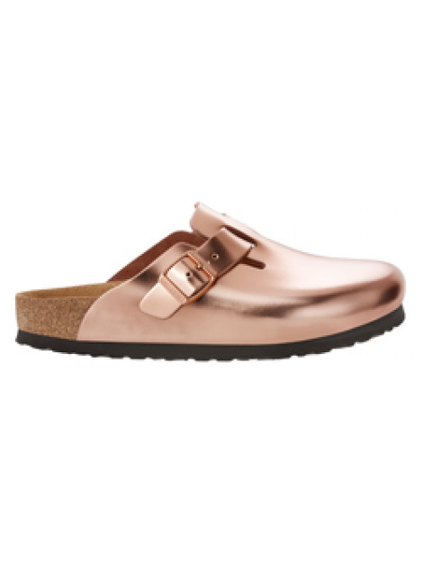 Birkenstock Boston metallic copper leather soft footbed small 1001384 large