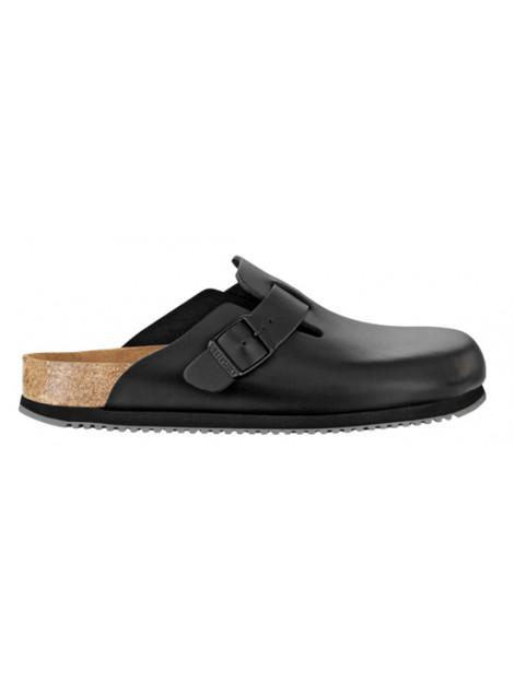 Birkenstock Boston sl black leather supergrip sole narrow 060196 large