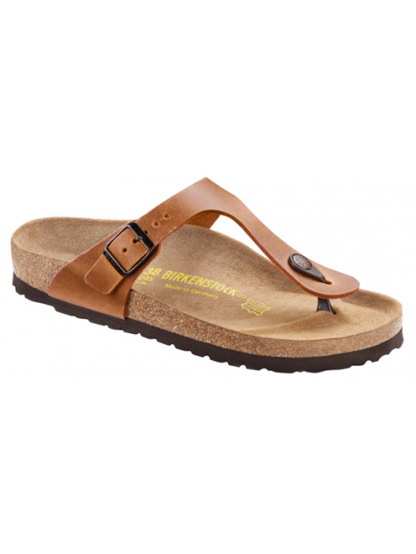 Birkenstock Gizeh brown leather regular 743781 large