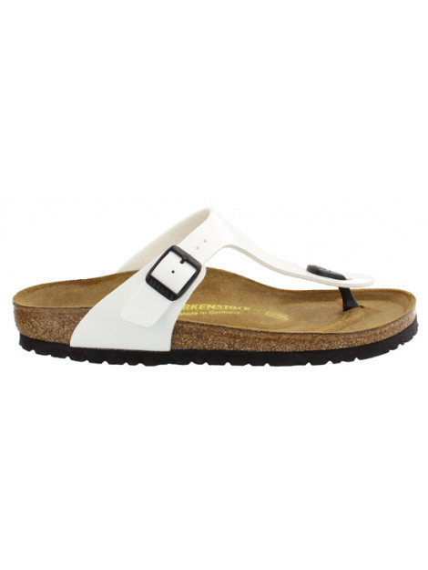 Birkenstock Gizeh white patent narrow 543763 large
