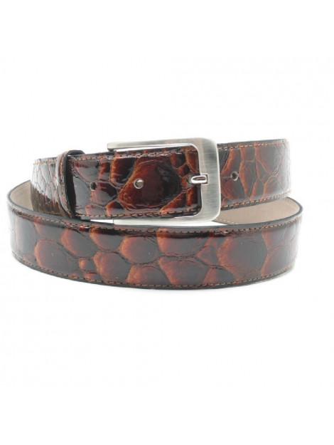 Scarpe Pazzo  Belt - brown pebble patent Belt large