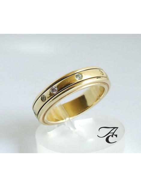 Atelier Christian Gouden ring met diamanten 329D03-5100AC large