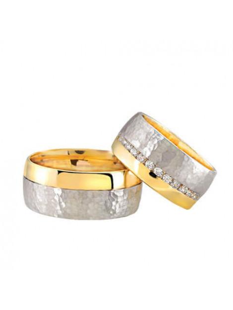 Christian Bicolor trouwringen met diamanten 2907C3-2205L large