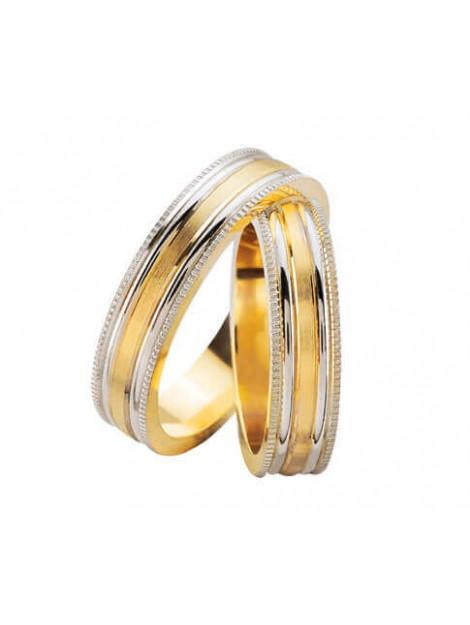 Christian Bicolor diamanten trouwringen hoogglans 92U387-4014L large