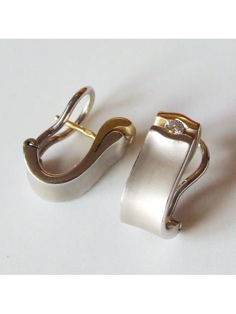 Christian Bicolor oorbellen met briljant geslepen diamant  large