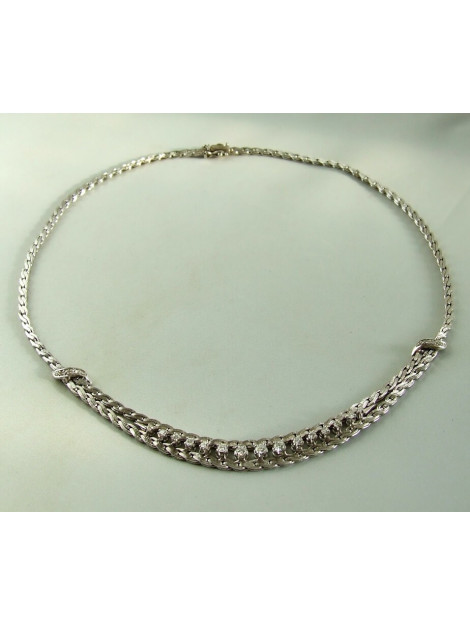 Christian 14 karaat collier met diamanten 92W89-9210OCC large