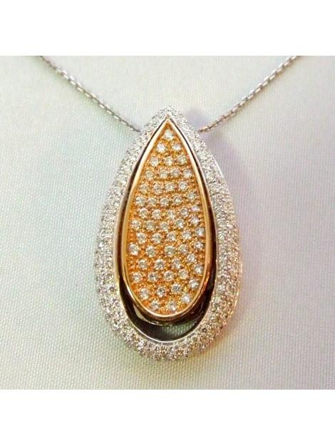 Christian 18 karaat bicolor hanger met diamanten  large