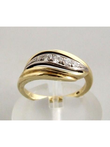 Casio Bicolor ocn diamanten ring 239K88-4968OCC large
