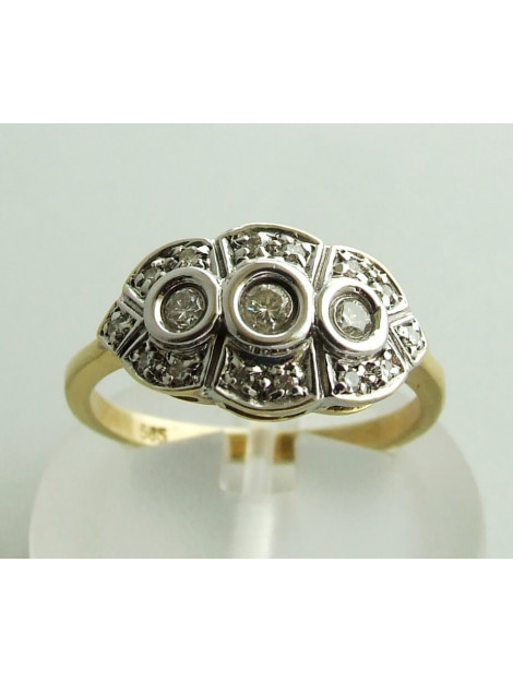 Christian Gouden bicolor ring met briljanten 128Y87-5437OCC large