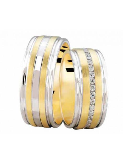 Christian Bicolor trouwringen met 0.37 ct. diamanten 232S9-3884L large