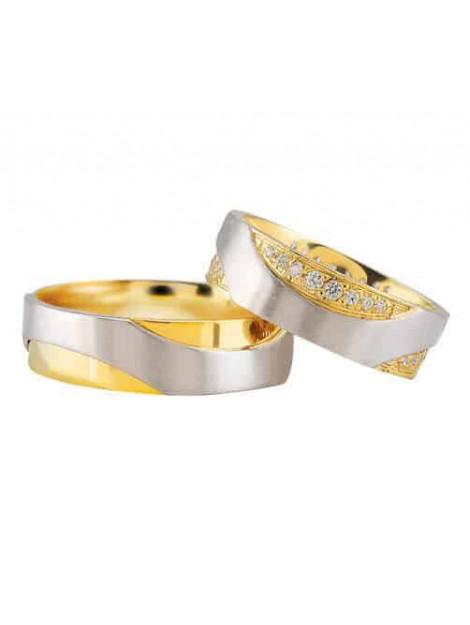 Christian Bicolor trouwringen met diamanten 3289I3-3988L large