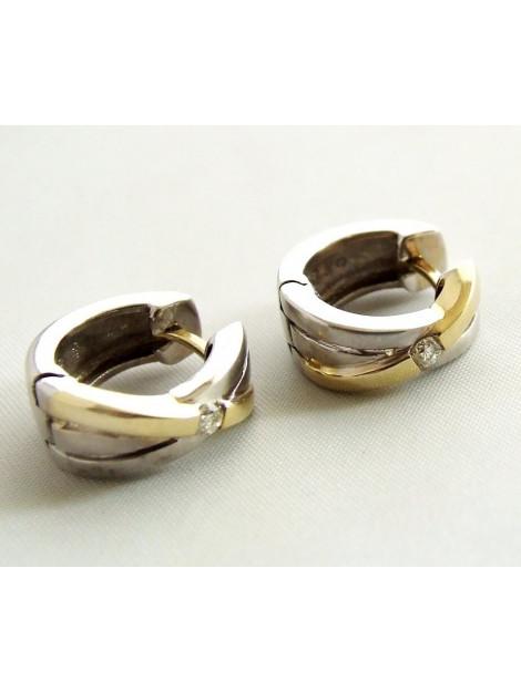 Christian Bicolor gouden oorbellen met diamant 239D873-6859JC large