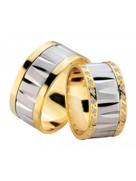 Christian Fantasie trouwringen met dubbele rij diamanten 829C73-3916L large