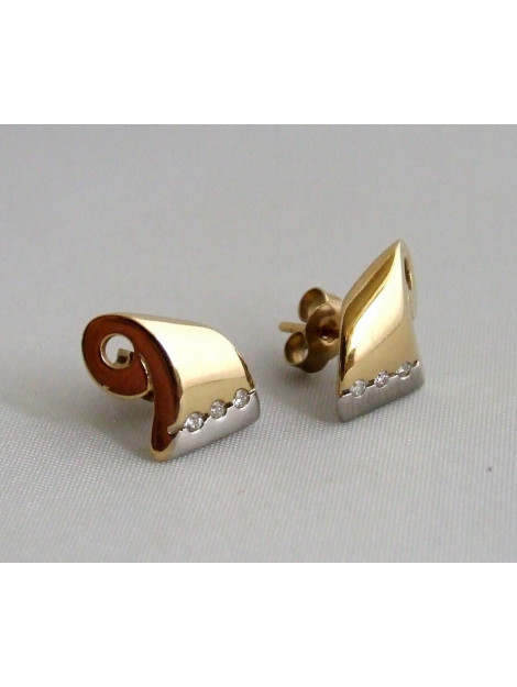 Christian Bicolor oorbellen met diamanten 238H973-4582JC large