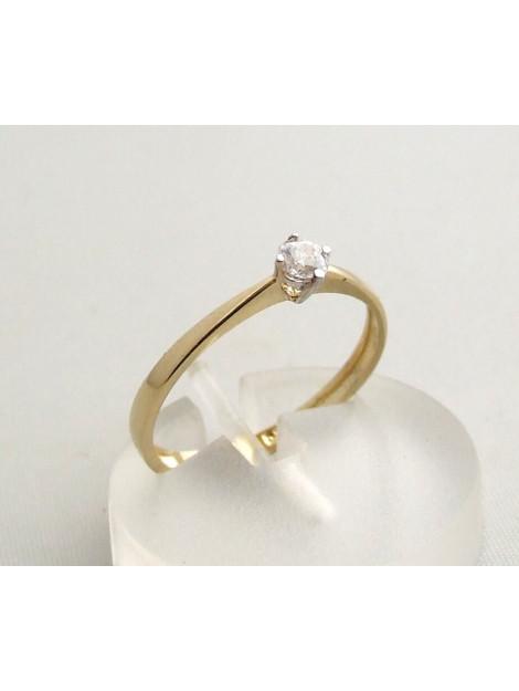 Christian Vierpoots gouden ring met zirkonia 39R023-4747JC large
