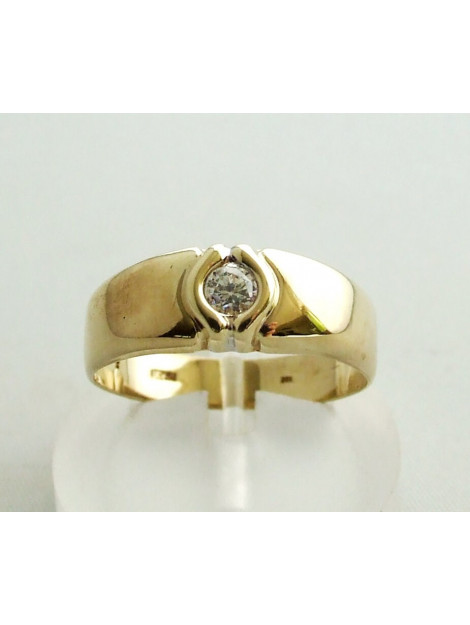 Christian Zirkonia ring geel goud  large
