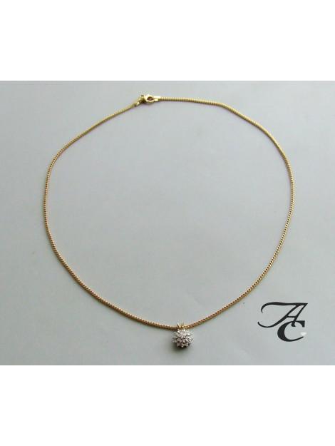 Atelier Christian Gouden collier en hanger met briljanten 93Y4837-5593AC large