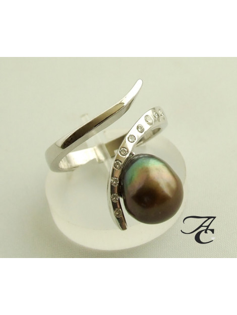 Atelier Christian Ring met parel en diamant 3458AC large