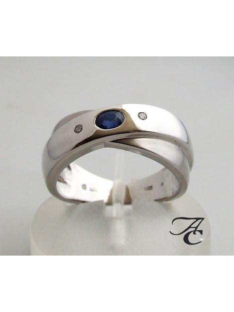 Atelier Christian Ring met saffier en twee diamanten 32E973-1705AC large