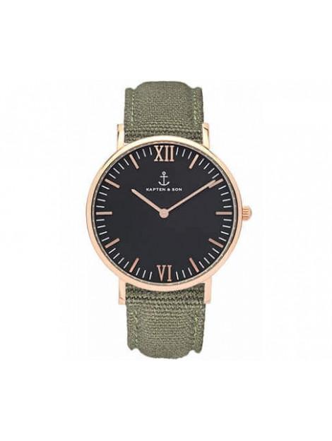 Kapten & Son Horloge black olive canvas campina 4251145223762 4251145223762 large