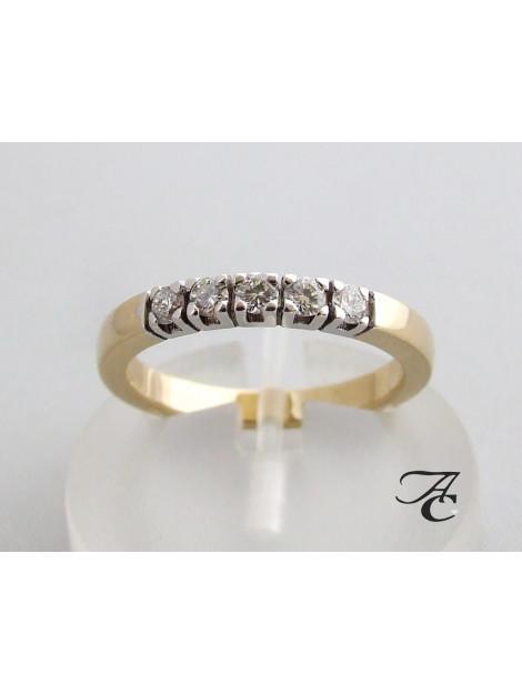 Atelier Christian Gouden alliance ring met briljant 8R20C3=3604AC large